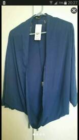 Shrug style cardi navy and red