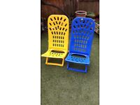 Beach chairs plastic