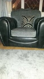 2 x 2 seater sofa & chair as new smoke free pet free house