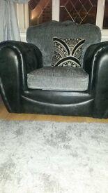 2 x 2 seater sofa & chair as new smoke free pet free house