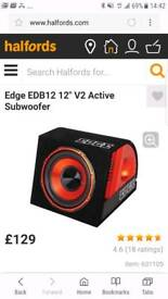 egde 12inch sub with built in amp