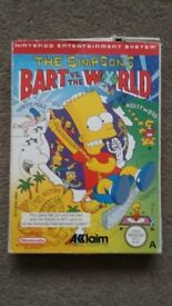 The Simpsons: Bart Vs The World NES (Ultra rare game, boxed with manual)