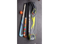Two Hockey Sticks, Bag & Ball