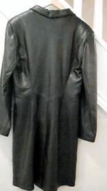 Full length 'Black' Leather Coat,