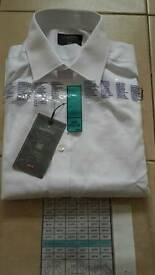 White Slim Fit Mens Shirt. M&S. BRAND NEW.