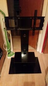 black glass tv stand NEED GONE ASAP