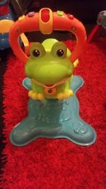 Vtech bounce and spin frog as new + walker