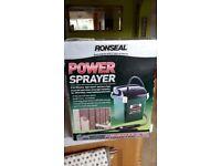 Sprayer for Fencing. Ronseal Cordless Power Sprayer.