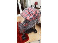 Bonito bebe stroller and rain cover