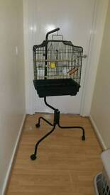 Bird Cage with adjustable stand in mint condition
