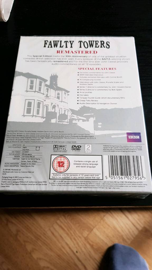 FAWLTY TOWERS COMPLETE SERIES DVD BOX SET NEW AND SEALED | in ...