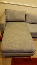 IKEA sofa. 2x 2 seater sofa's one with chaise/corner in Marl grey.