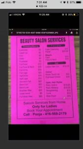 WAXING THREADING FACIALS ALL SALON SERVICES FROM HOME