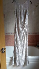 For sale gorgeous LIPSY silver maxi dress size 12