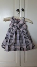 Baby K pink and black stripped dress. 9-12 months