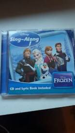 Frozen Sing Along CD and lyric book ono