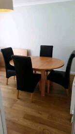 4 seater solid wood dining table