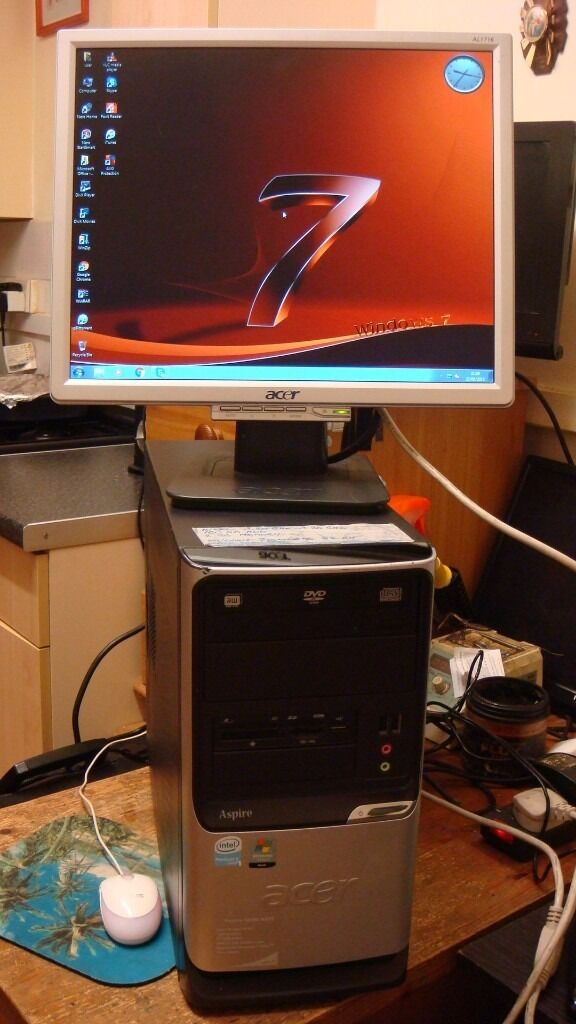 Computer Desktop Intel 3.20 GHzin Edmonton, LondonGumtree - Computer Desktop Intel 3.20 GHz 17 inch Monitor Computer have fresh install windows 7 ultimate 64 bit Office 2010 PRO and more other to use Internet is ready Google chrome Antivirus etc. ( Tested for you and you see is working Computer) Intel CPU...