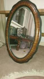 Attractive vintage/ antique mahogany mirror