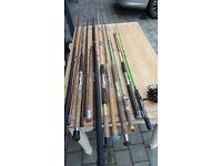 Bundle of fishing rods & spool