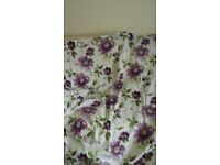 """Julian Charles lined floral design cotton pair of curtains 90"""" x 72 """""""