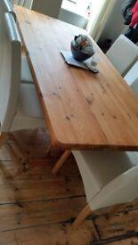 vintage Large solid pine wood table