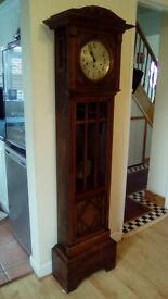 EDWARDIAN LONG CASE GRANDFATHER CLOCK