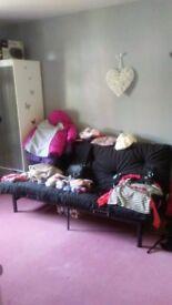 Large black sofabed unused