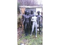 5 mannequin on good condition ,only mannequin no metal stand