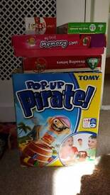Pop up pirate & other games
