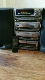 CD cassette radio stereo stacking system