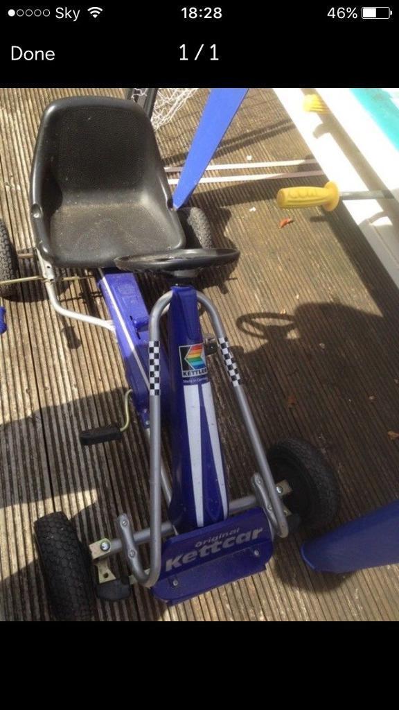 Go kart kettler excellent condition