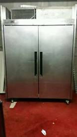 Williams commercial double doors chiller stainless steel fully working with guaranty good condition