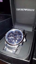 Mens Emporio Armani AR2448 Stainless Steel Chronograph Watch
