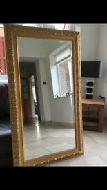 "Gold framed mirror 55"" x 33"" (Fenwick)"