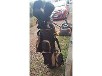 Golf clubs full set slazenger including bag gloves balls