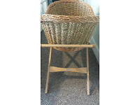 Moses basket and stand for sale - free