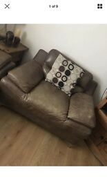 Lovely sofa, has a little wear but great condition. A spring has gone in one seat but easy fix