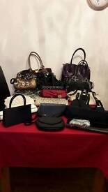 A selection of handbags