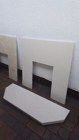 Modern Marble hearth and surrounds