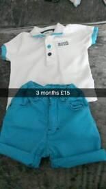Hugo boss tshirt and shorts