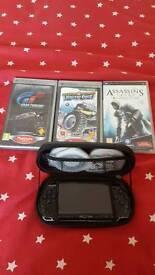 Sony PSP + case + 3 games