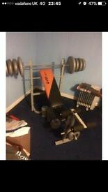 Bench & over 100kg of weights to take £90