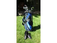 Mitsubisha Golf Clubs, Bag with stand and Shoes