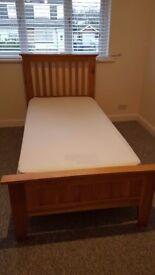 Solid oak bed frame