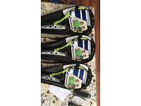 3 x new babolat pure aero tennis racquets