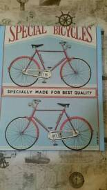 Bicycle canvass picture