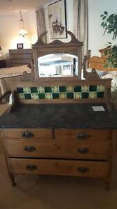 Antique Washstand with Granite Top