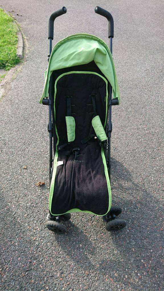 Obaby stroller with footmuff and rain cover