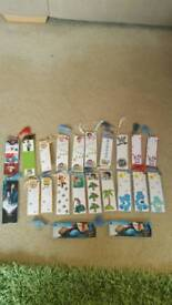 Set of 22 childrens handmade bookmarks with tassels